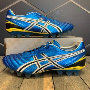 Asics Lethal Flash Blue Yellow Soccer Cleats Sz 11